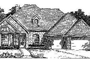 European Exterior - Front Elevation Plan #310-741