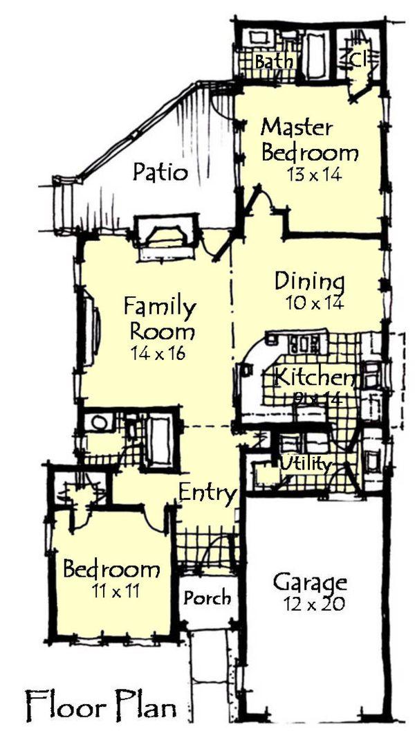 Craftsman Floor Plan - Main Floor Plan Plan #921-12