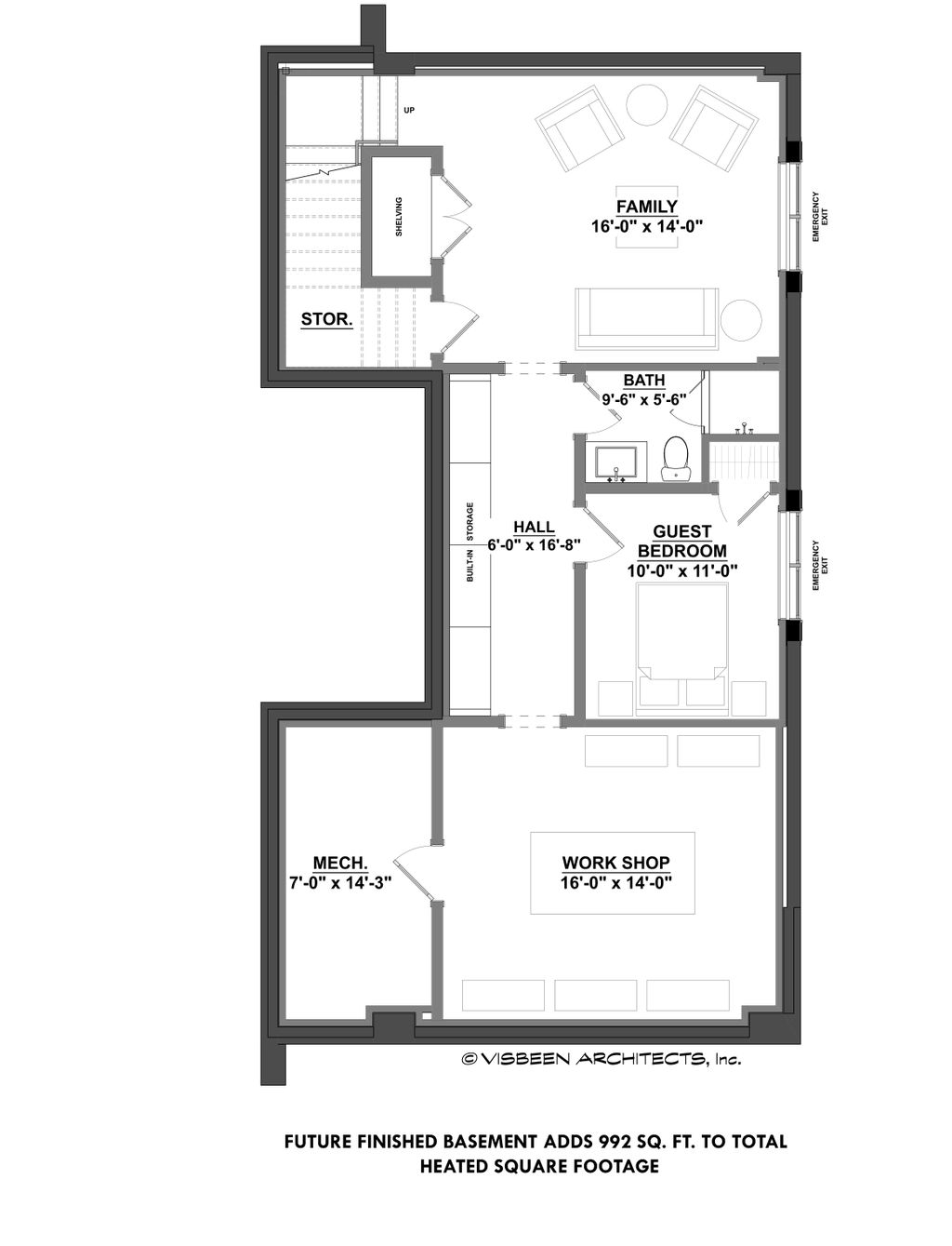 Contemporary Style House Plan 3 Beds 2 5 Baths 2368 Sq Ft Plan 928 296 Eplans Com