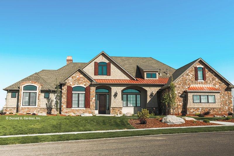 Dream House Plan - European Exterior - Front Elevation Plan #929-1008