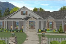 Architectural House Design - Craftsman Exterior - Front Elevation Plan #56-718