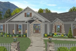 Craftsman Exterior - Front Elevation Plan #56-718