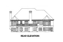 Home Plan - European Exterior - Rear Elevation Plan #429-18