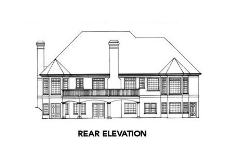 European Exterior - Rear Elevation Plan #429-18 - Houseplans.com