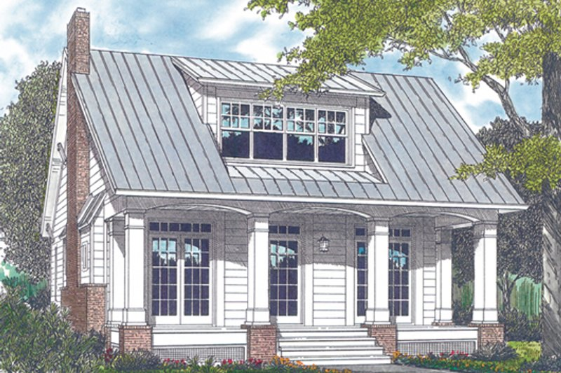 Bungalow Exterior - Front Elevation Plan #453-4