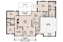 European Floor Plan - Main Floor Plan Plan #36-483