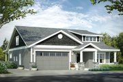 Bungalow Style House Plan - 3 Beds 2.5 Baths 1859 Sq/Ft Plan #124-1028 Exterior - Front Elevation