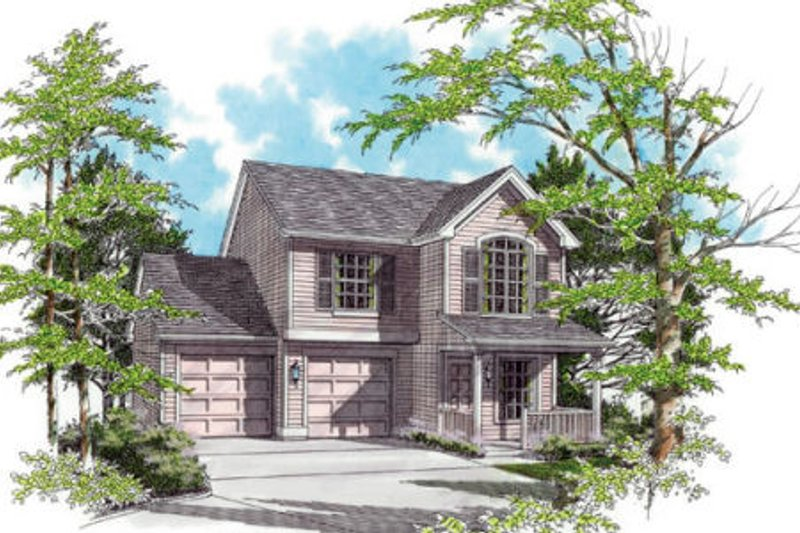 Country Exterior - Front Elevation Plan #48-307