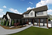 Farmhouse Style House Plan - 4 Beds 2.5 Baths 3356 Sq/Ft Plan #1060-1 Exterior - Front Elevation