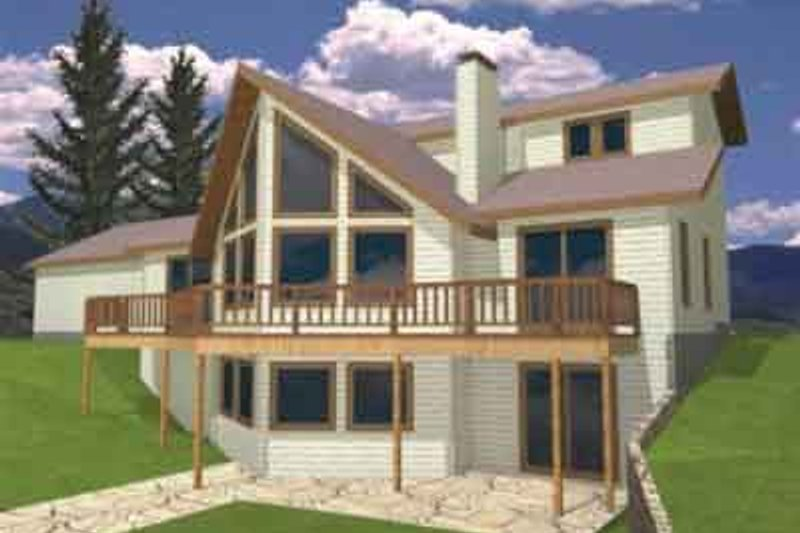 Modern Exterior - Front Elevation Plan #117-222 - Houseplans.com