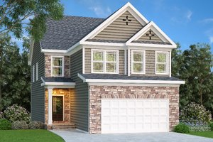 Craftsman Exterior - Front Elevation Plan #419-225