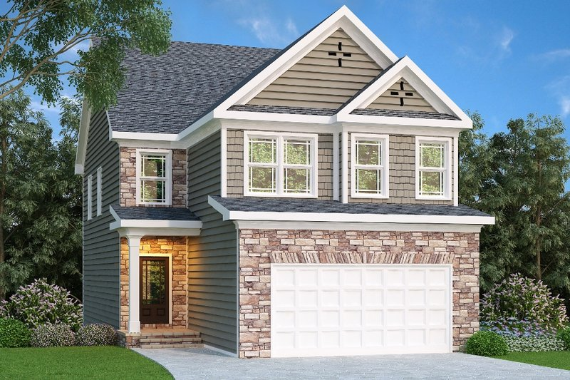 Craftsman Style House Plan - 4 Beds 2.5 Baths 2095 Sq/Ft Plan #419-225 Exterior - Front Elevation