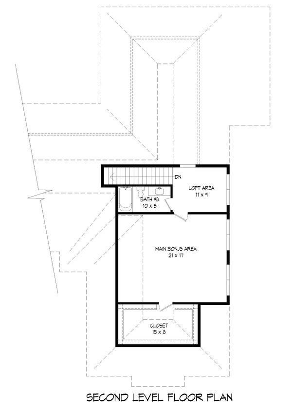 Dream House Plan - Traditional Floor Plan - Upper Floor Plan #932-166