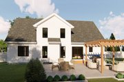 Farmhouse Style House Plan - 3 Beds 2.5 Baths 1947 Sq/Ft Plan #455-217 Exterior - Rear Elevation