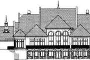 European Style House Plan - 5 Beds 6.5 Baths 6079 Sq/Ft Plan #119-183 Exterior - Rear Elevation