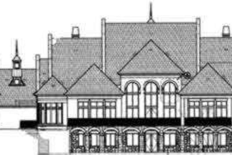 European Exterior - Rear Elevation Plan #119-183 - Houseplans.com