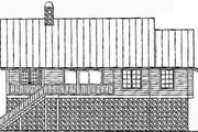 Log Style House Plan - 3 Beds 2 Baths 1512 Sq/Ft Plan #115-153 Exterior - Rear Elevation