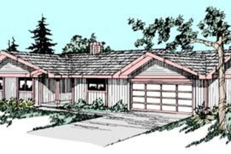 Ranch Exterior - Front Elevation Plan #60-421