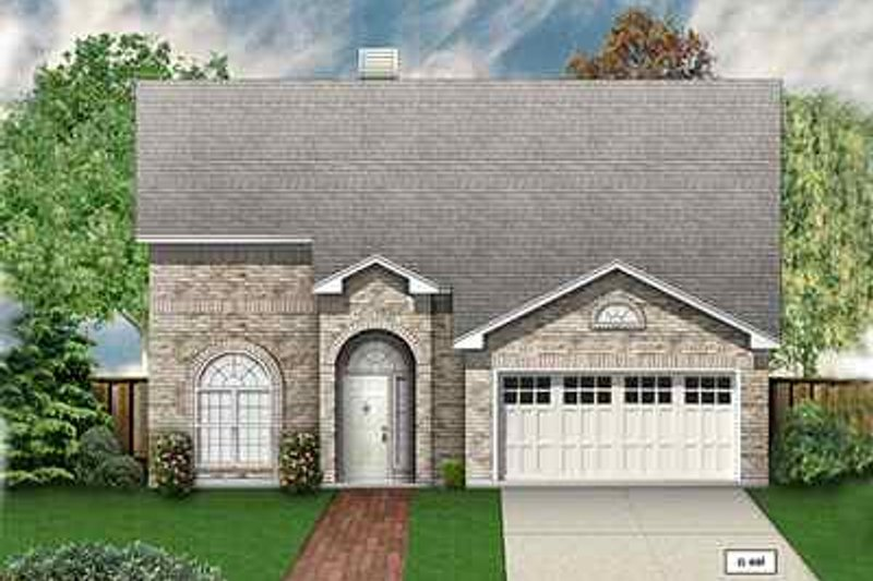 Traditional Exterior - Front Elevation Plan #84-136 - Houseplans.com