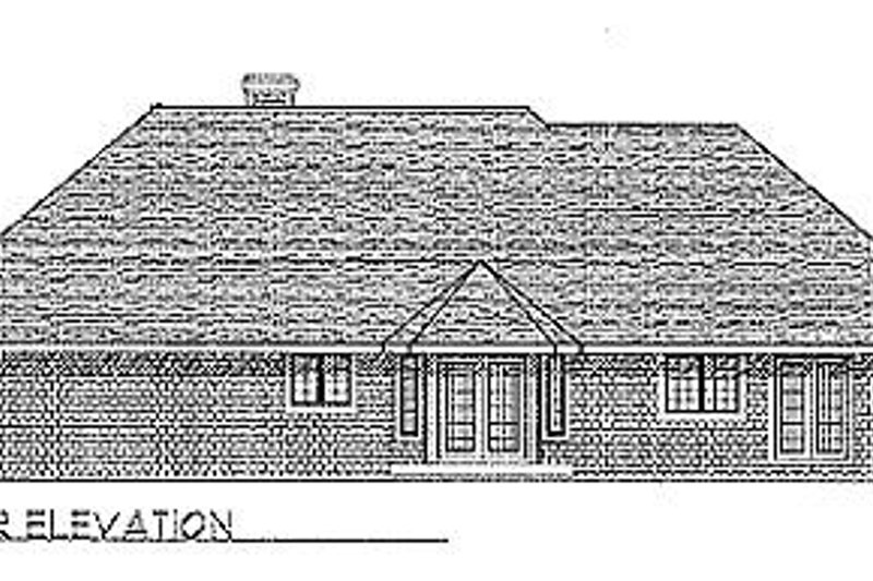 Traditional Exterior - Rear Elevation Plan #70-224 - Houseplans.com