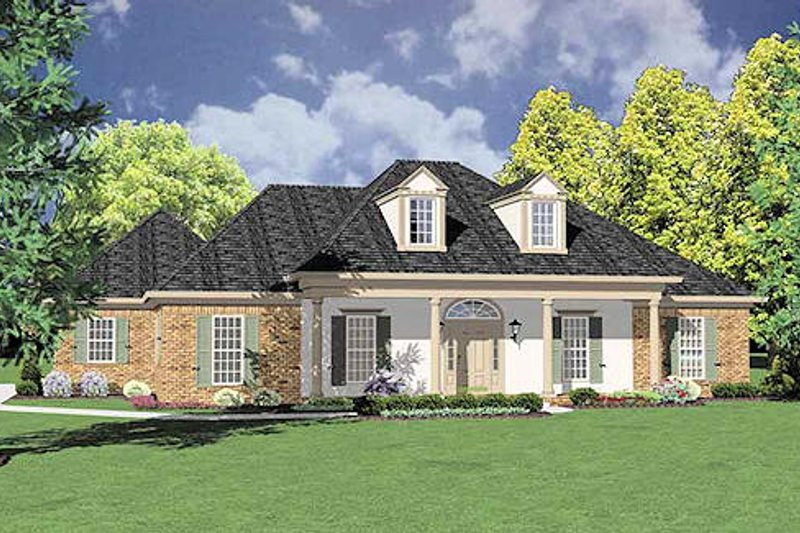 Southern Exterior - Front Elevation Plan #36-193