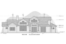 Craftsman Exterior - Rear Elevation Plan #892-29