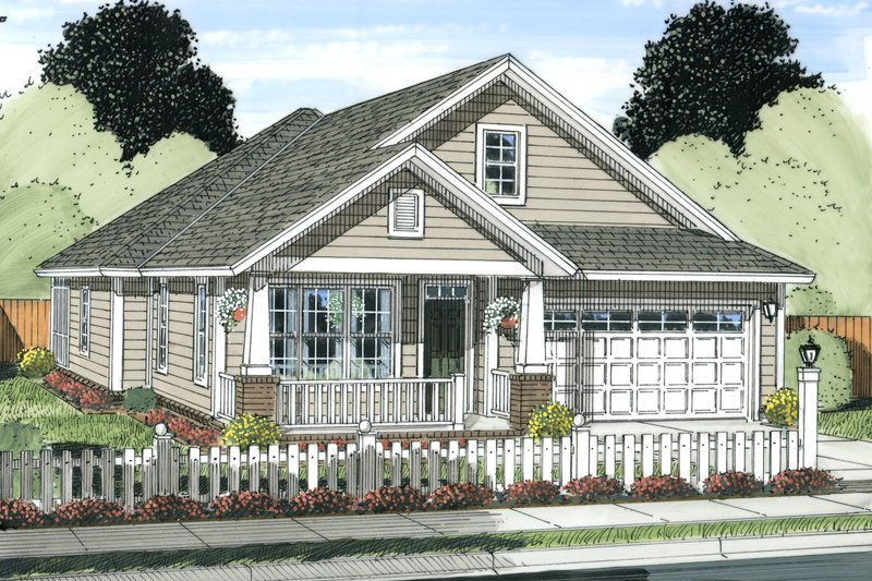 Bungalow Exterior - Front Elevation Plan #513-2085 - Houseplans.com