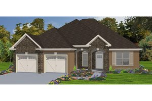 Traditional Exterior - Front Elevation Plan #63-304