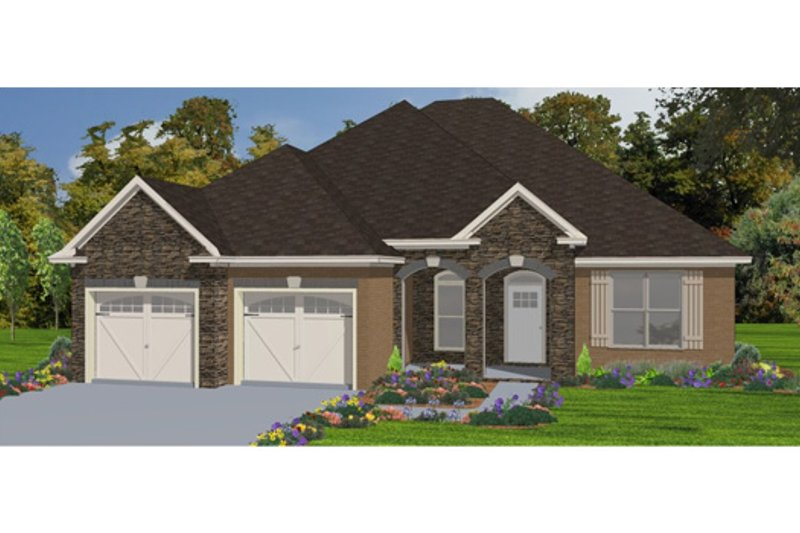Traditional Style House Plan - 4 Beds 2.5 Baths 2099 Sq/Ft Plan #63-304 Exterior - Front Elevation
