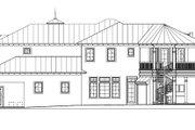 Mediterranean Style House Plan - 4 Beds 5 Baths 5079 Sq/Ft Plan #27-385 Exterior - Rear Elevation