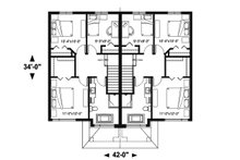 Modern Floor Plan - Upper Floor Plan Plan #23-2639