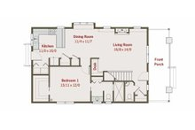 Craftsman Floor Plan - Main Floor Plan Plan #461-24