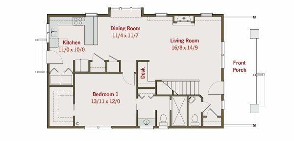 House Plan Design - Craftsman Floor Plan - Main Floor Plan #461-24