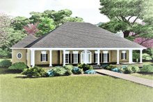 Southern Exterior - Front Elevation Plan #44-127