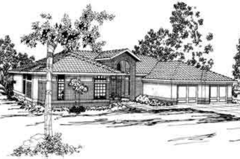 Dream House Plan - Exterior - Front Elevation Plan #124-246