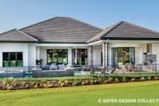 Contemporary Style House Plan - 4 Beds 5 Baths 3718 Sq/Ft Plan #930-477 Exterior - Rear Elevation