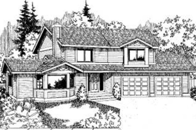 Traditional Exterior - Front Elevation Plan #60-319 - Houseplans.com