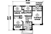 Contemporary Style House Plan - 3 Beds 1 Baths 1501 Sq/Ft Plan #25-4351 Floor Plan - Upper Floor
