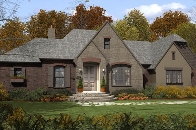 Home Plan - European Exterior - Front Elevation Plan #406-9610