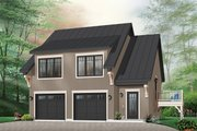 Traditional Style House Plan - 2 Beds 1.5 Baths 1068 Sq/Ft Plan #23-444 Exterior - Front Elevation