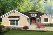 Ranch Style House Plan - 2 Beds 2 Baths 1993 Sq/Ft Plan #70-1073 Exterior - Front Elevation