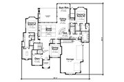 Traditional Style House Plan - 2 Beds 3 Baths 3961 Sq/Ft Plan #20-2408 Floor Plan - Main Floor