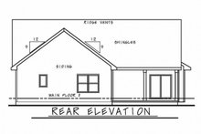 Ranch Exterior - Rear Elevation Plan #20-2271