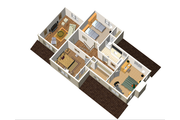 Country Style House Plan - 3 Beds 1 Baths 1816 Sq/Ft Plan #25-4682 Floor Plan - Upper Floor Plan