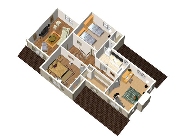 Country Floor Plan - Upper Floor Plan Plan #25-4682