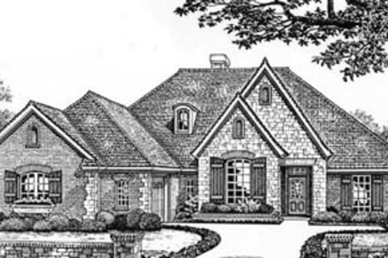 European Exterior - Front Elevation Plan #310-525