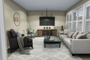Traditional Style House Plan - 3 Beds 2.5 Baths 1621 Sq/Ft Plan #1060-4 Interior - Family Room