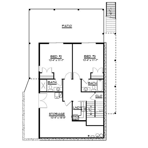 House Design - Beach Floor Plan - Lower Floor Plan #1064-26