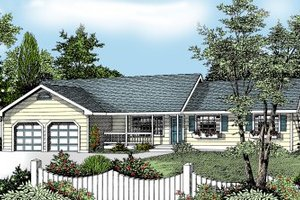 Ranch Exterior - Front Elevation Plan #97-117