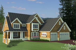 Country Exterior - Front Elevation Plan #51-561